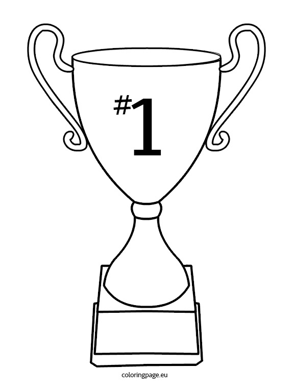 574x765 Cup Trophy Coloring Page