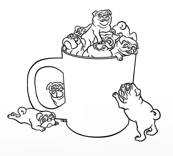 600x541 Pug In A Cup Coloring Page Color Luna