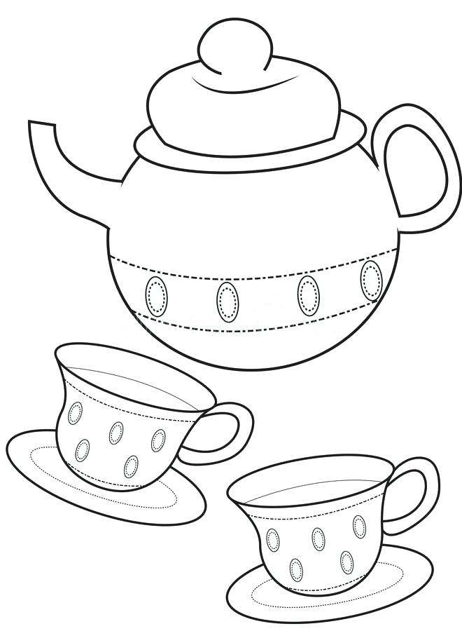 660x900 Tea Cup Coloring Page Download Teacup Coloring Page Stock