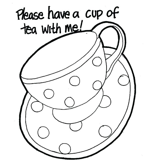 640x715 Teapot Coloring Page Drawn Tea Cup Colouring Page Teapot
