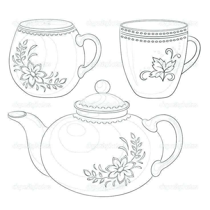 736x736 Teapot Coloring Page Tea Cup Teapot Coloring Pages Teapot