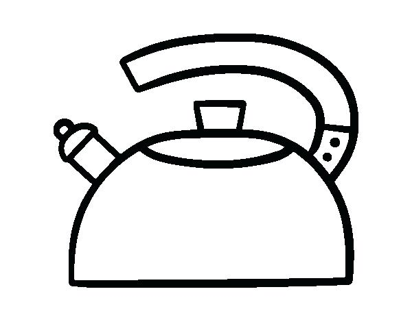600x470 The Teapot Coloring Page The Teapot Coloring Page Teapot And Cup