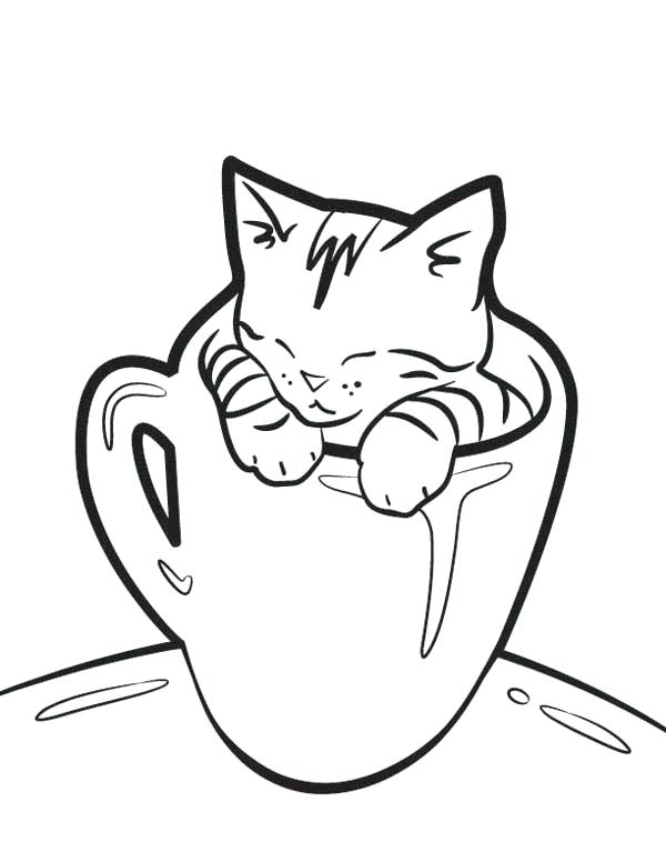 600x776 Unique Kitty Cat Coloring Pages And Very Cute Kitty Cat Sleeping