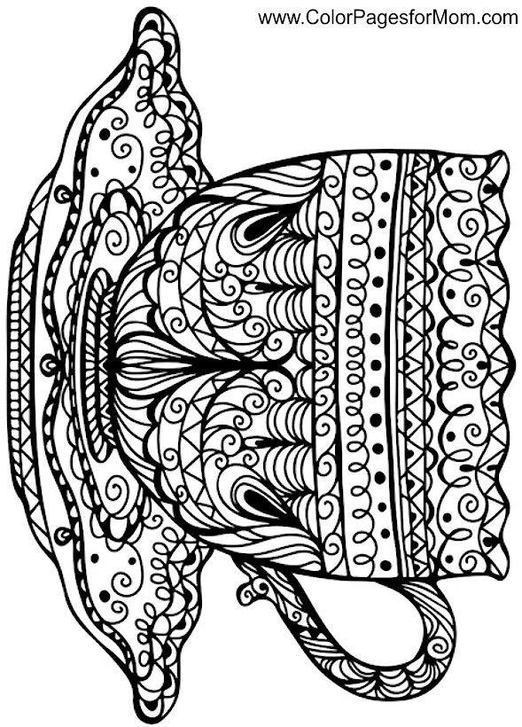 589x820 Coffee Cup Coloring Page Colouring For Big Kids!!!