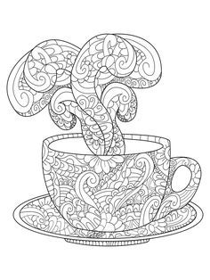 236x314 Coffee Cup Coloring Page Coloring Coffee Cup