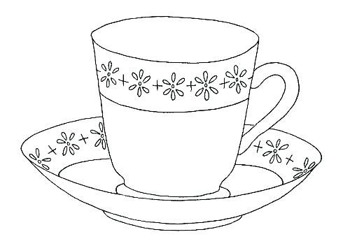 500x352 Teacup Coloring Pages To Print Devon Creamteas