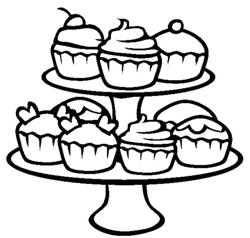 878x836 Cupcake Coloring Pages For Kids Picture To Color Various Images