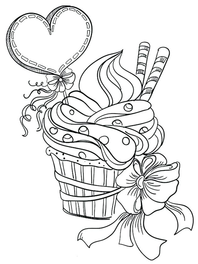 630x840 Cupcake Coloring Pages Simple Printable Coloring Cupcake Coloring