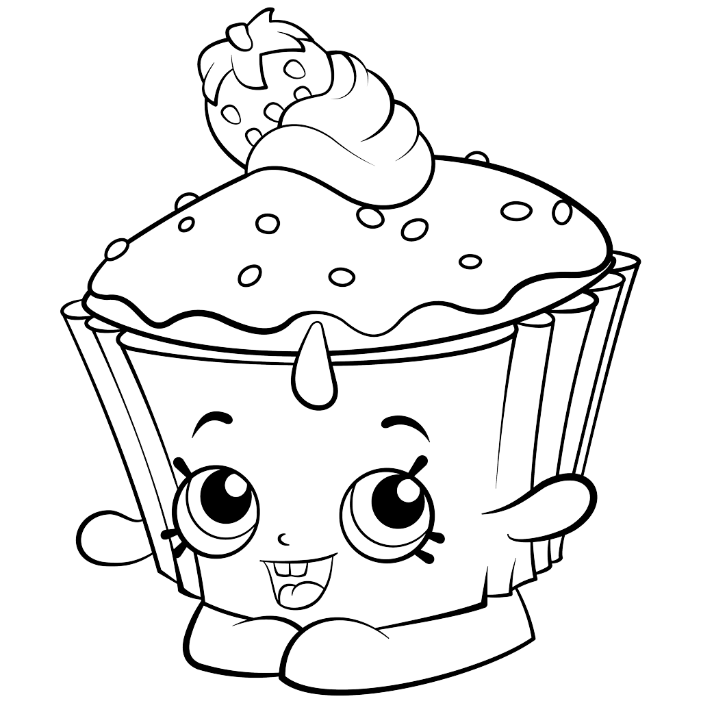 Cupcake Coloring Pages At GetDrawings