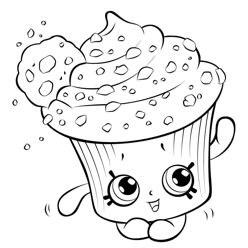 1024x1024 Shopkins Cupcakes Coloring Pages