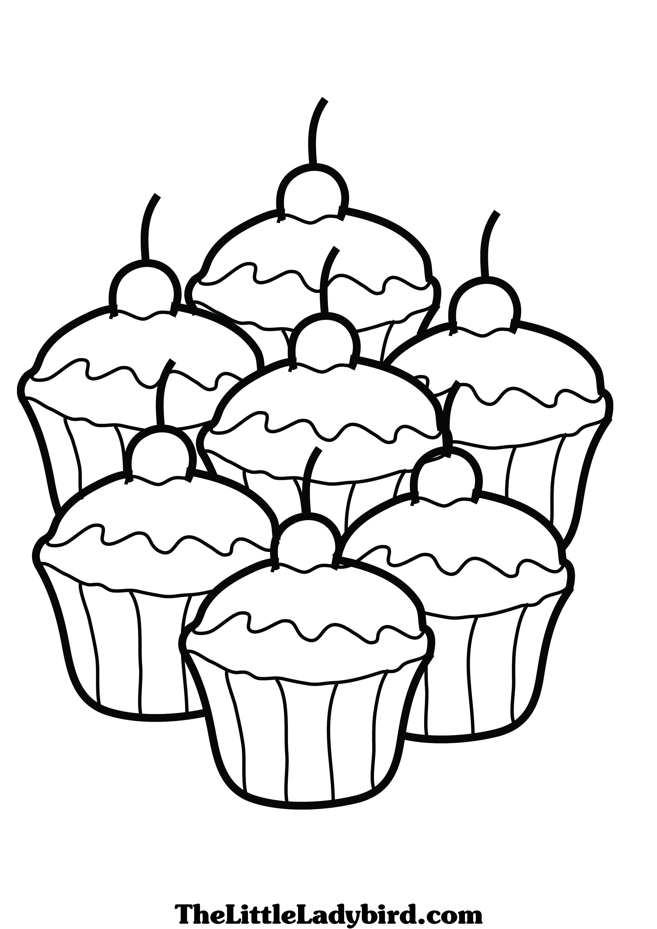 2480x3508 Cupcake Coloring Pages Free Coloring Pages Cup Cake