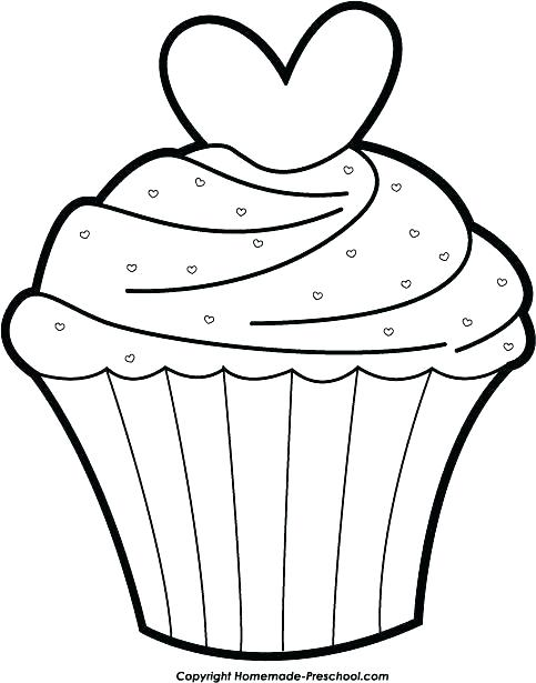 483x615 Cupcake Coloring Page Cupcake Color Page Cupcake Template To Color