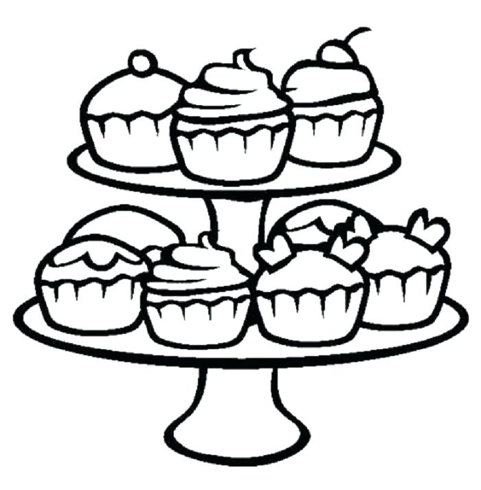 700x713 Cupcake Coloring Page Free Printable Cupcake Coloring Pages