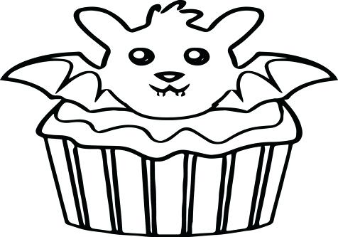 476x333 Cupcake Color Picture Kids Coloring Bat Coloring Pages Page Image