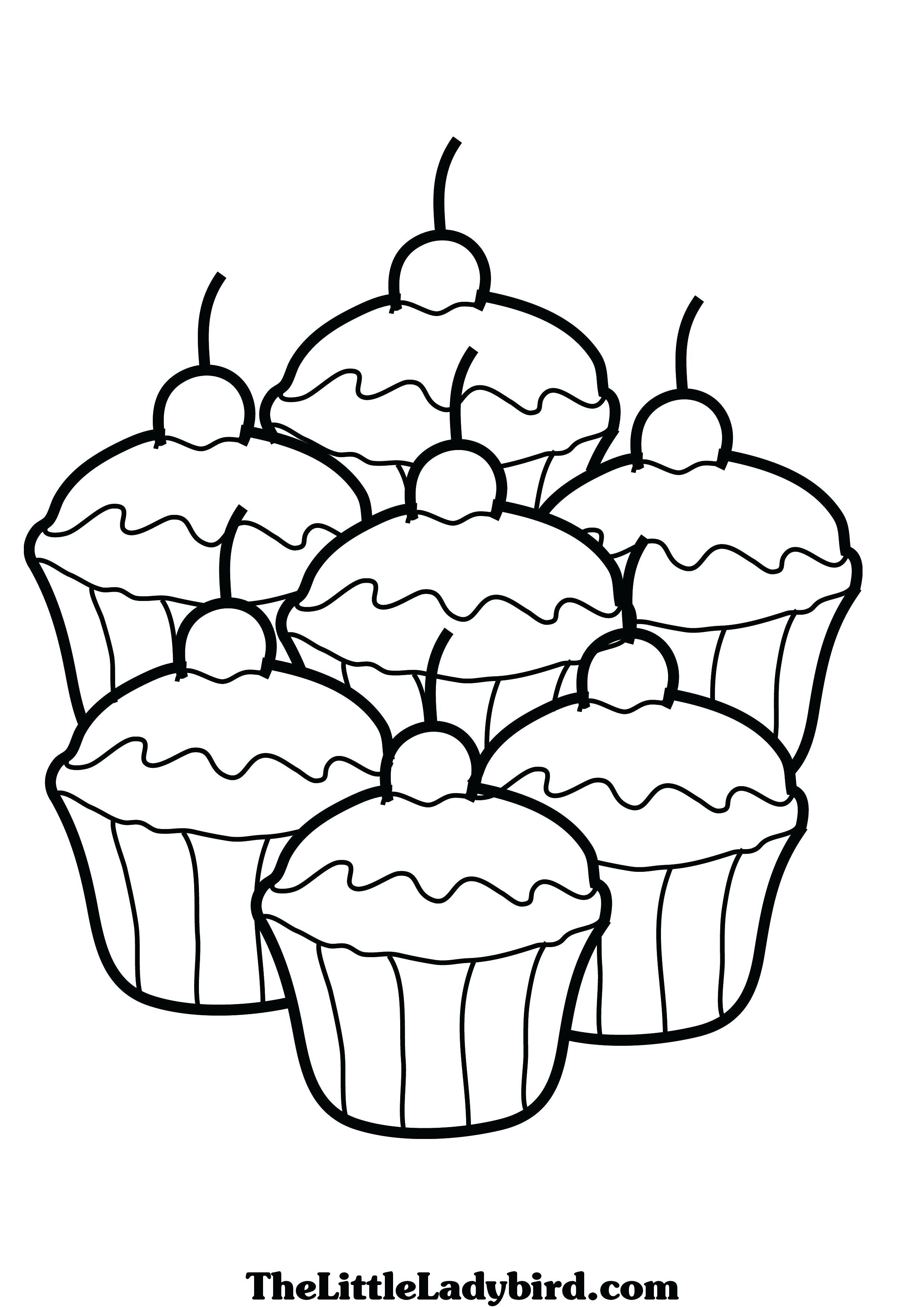 2480x3508 Cupcake Coloring Pages To Print Resume