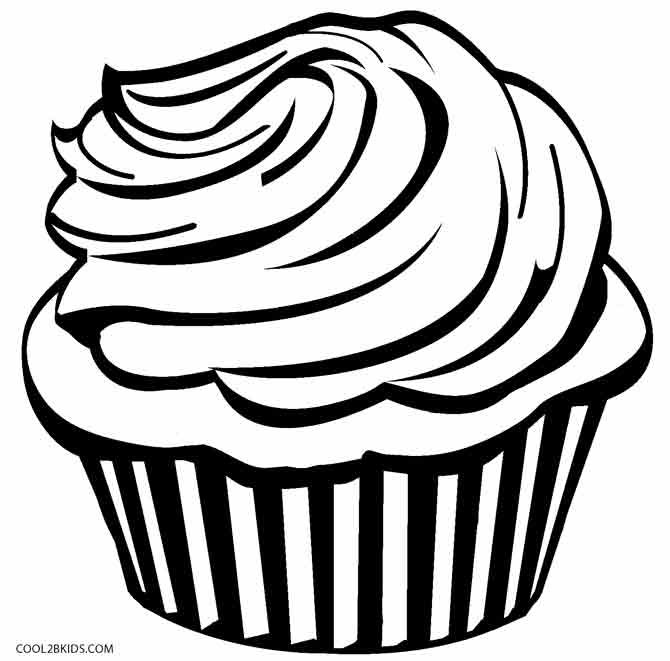 670x661 Free Printable Cupcake Coloring Pages For Kids