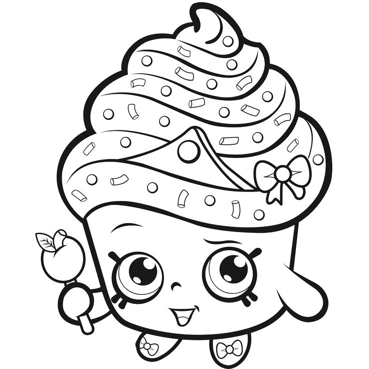 736x736 Cupcake Coloring Pages To Print Professional