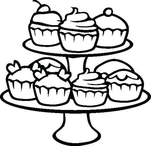 500x482 Coloring Pages Of Cupcakes Cute Cupcake Coloring Pages Kids