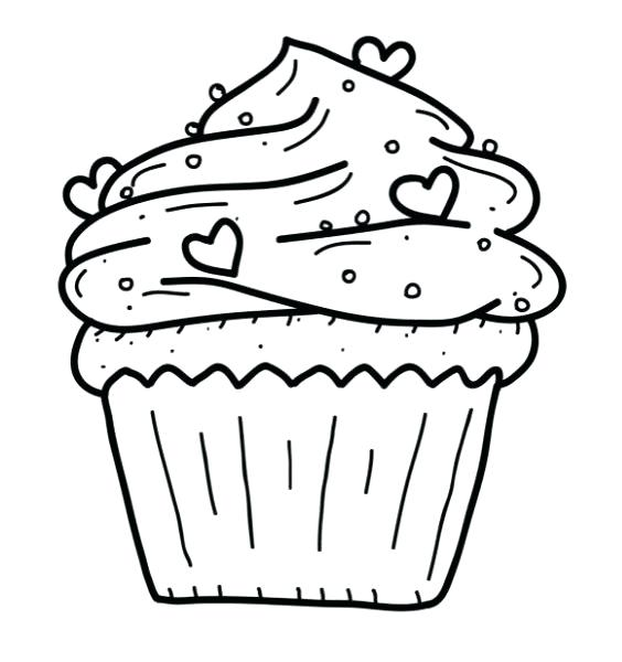 564x600 Cupcake Color Page Picture Of Cupcakes To Color Best Cupcake