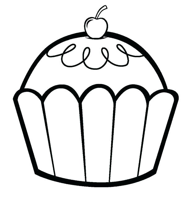 604x642 Cupcake Coloring Images Muffin Coloring Pages Cupcake Color Page