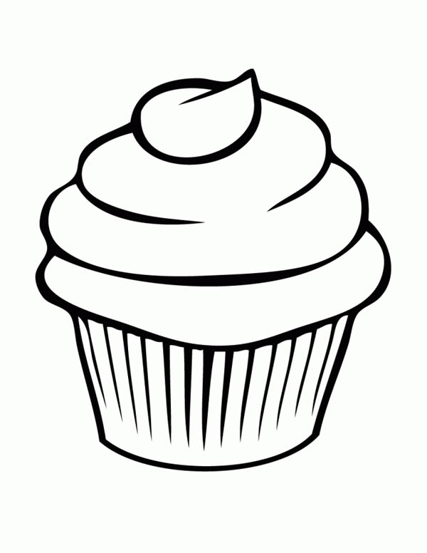 600x776 Cupcake Coloring Page