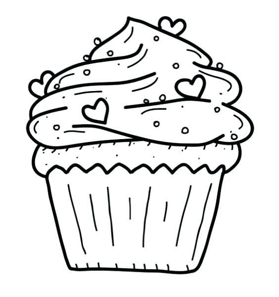 564x600 Cupcake Coloring Page Cupcake Coloring Pages Free Printable
