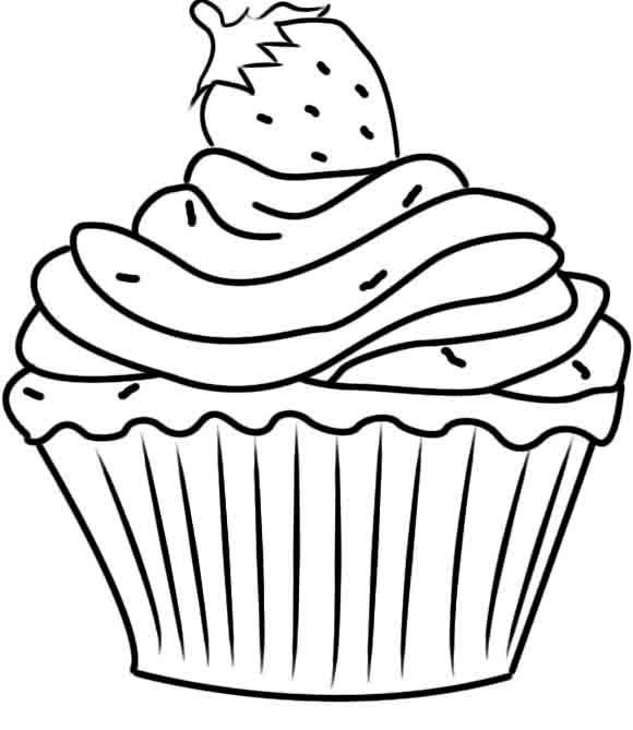 580x669 Cupcake Coloring Pages