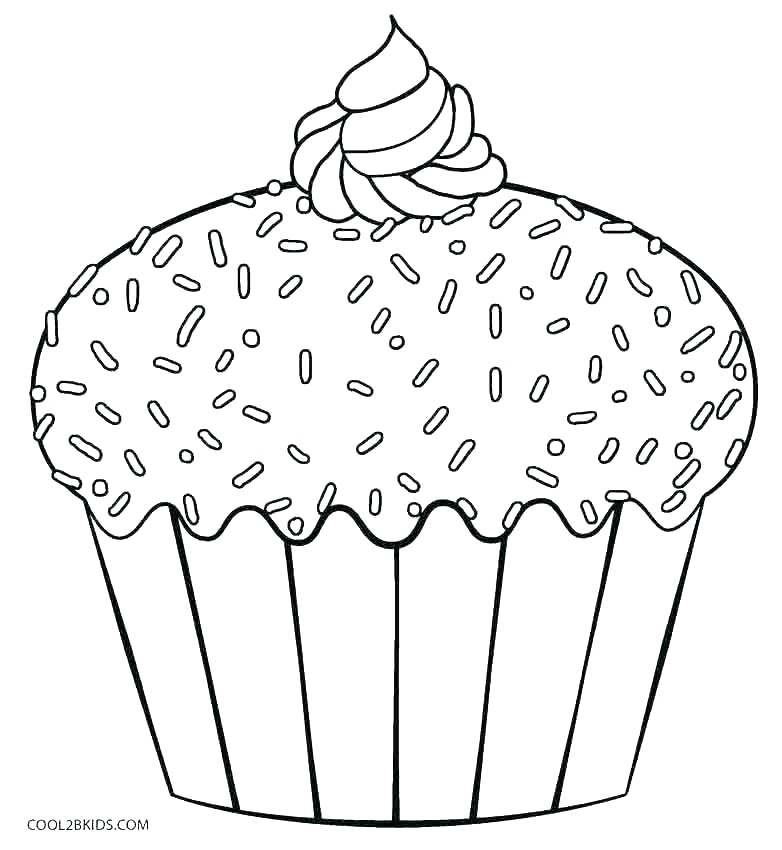 782x850 Cupcake Coloring Pages Print Cupcake Coloring Pages Simple Cupcake