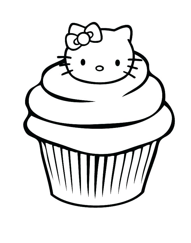 670x851 Cupcake Colouring Pages Printable Free Coloring For Kids Page