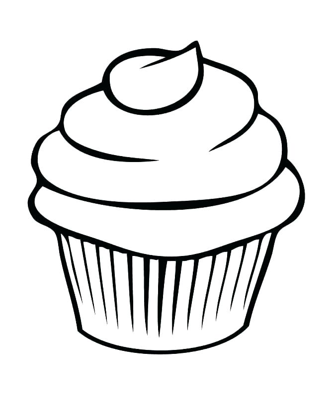 670x843 Free Cupcake Pictures To Color Printable Coloring Cupcake Coloring