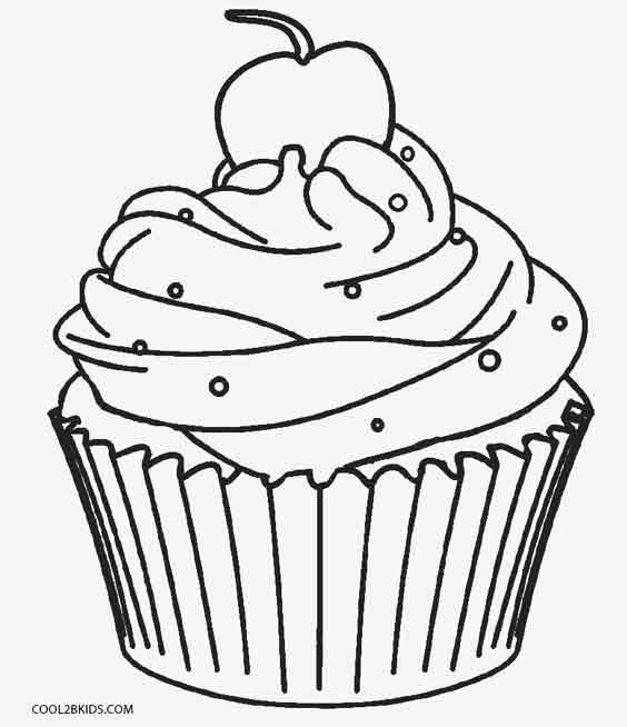 564x654 Free Printable Cupcake Coloring Pages For Kids