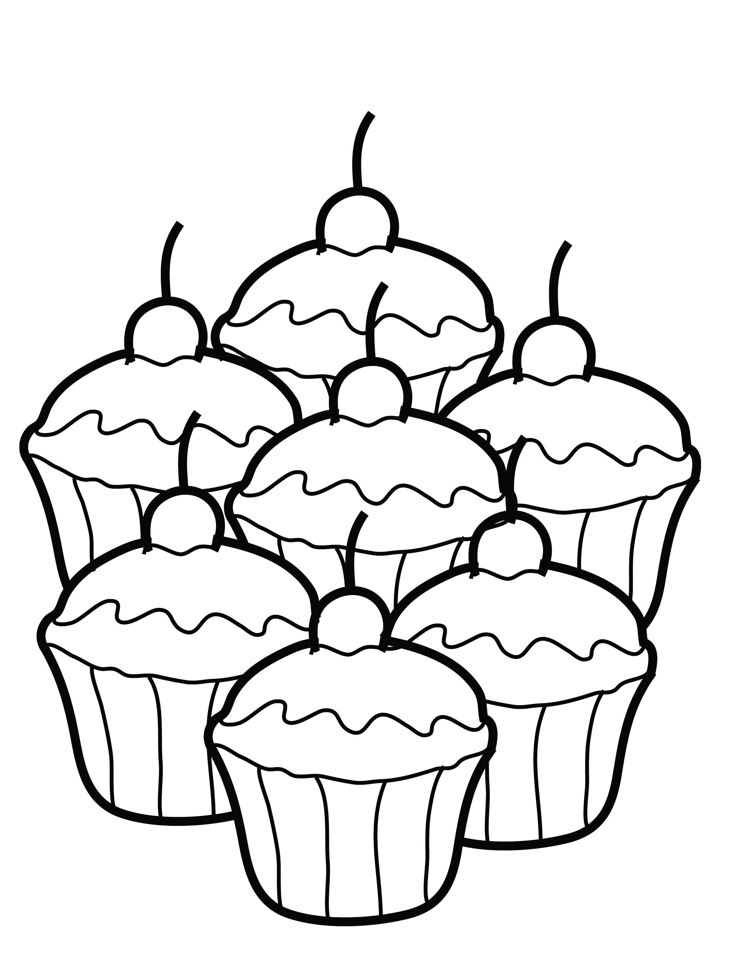 2480x3152 Free Printable Cupcake Coloring Pages For Kids