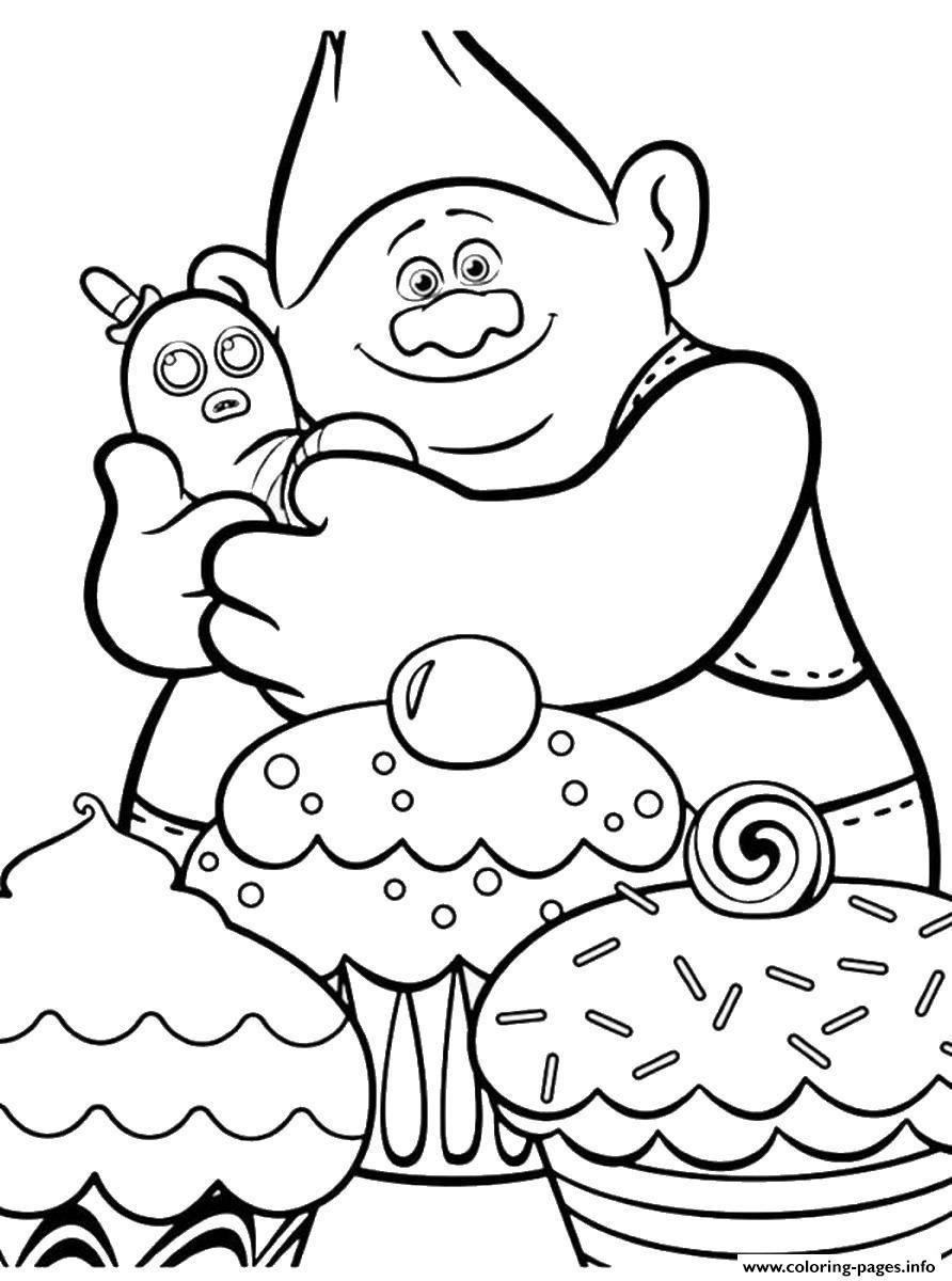 892x1200 Print Trolls Movie Cupcakes Coloring Pages Kolorowanki