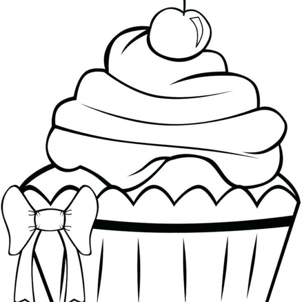 600x600 Printable Cupcake Coloring Pages Cute Cupcake Coloring Page
