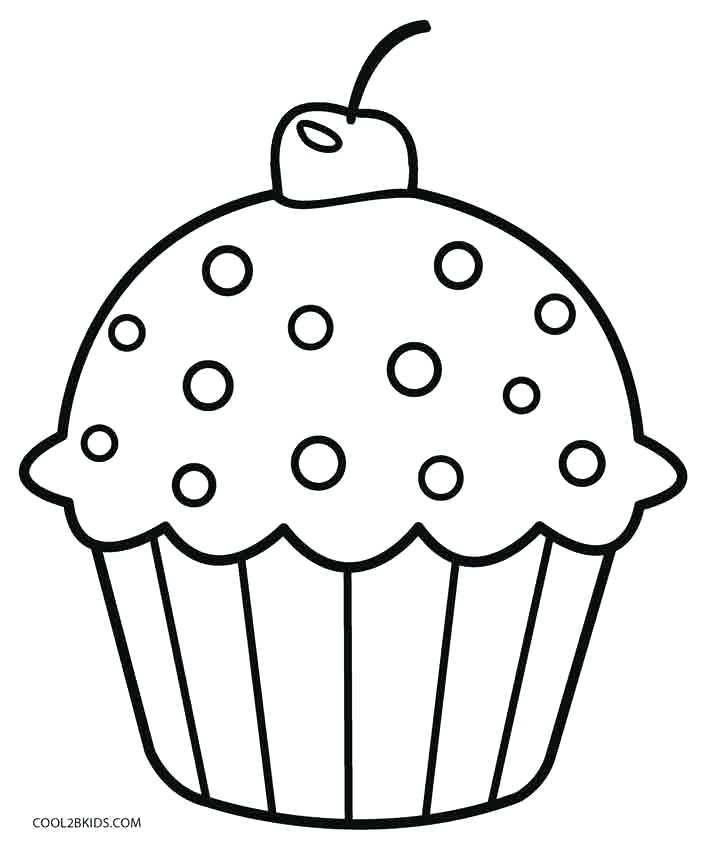 709x850 Cupcake Coloring Picture