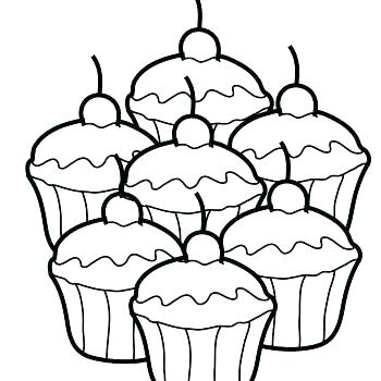 350x350 Coloring Pages Cupcakes Coloring Pages Of Cupcakes Cupcake