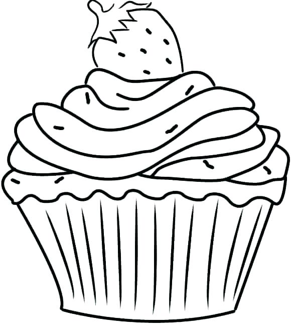 580x669 Coloring Pages Of Cupcakes Coloring Page Click To See Printable