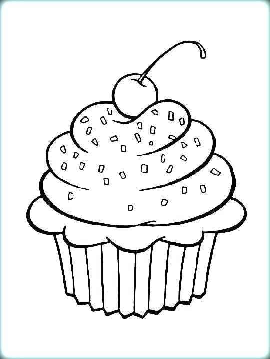 541x720 Cupcake Color Page Cupcake Coloring Pages Hello Kitty Free