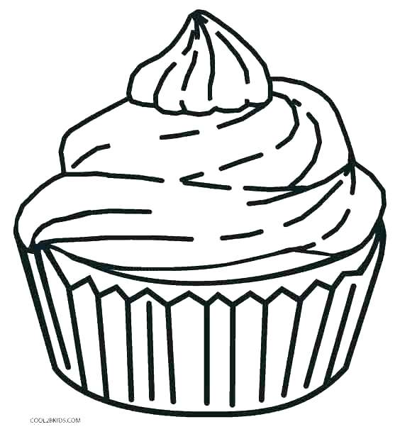 564x612 Cupcake Coloring Pages Birthday Cupcake Coloring Pages Cupcake