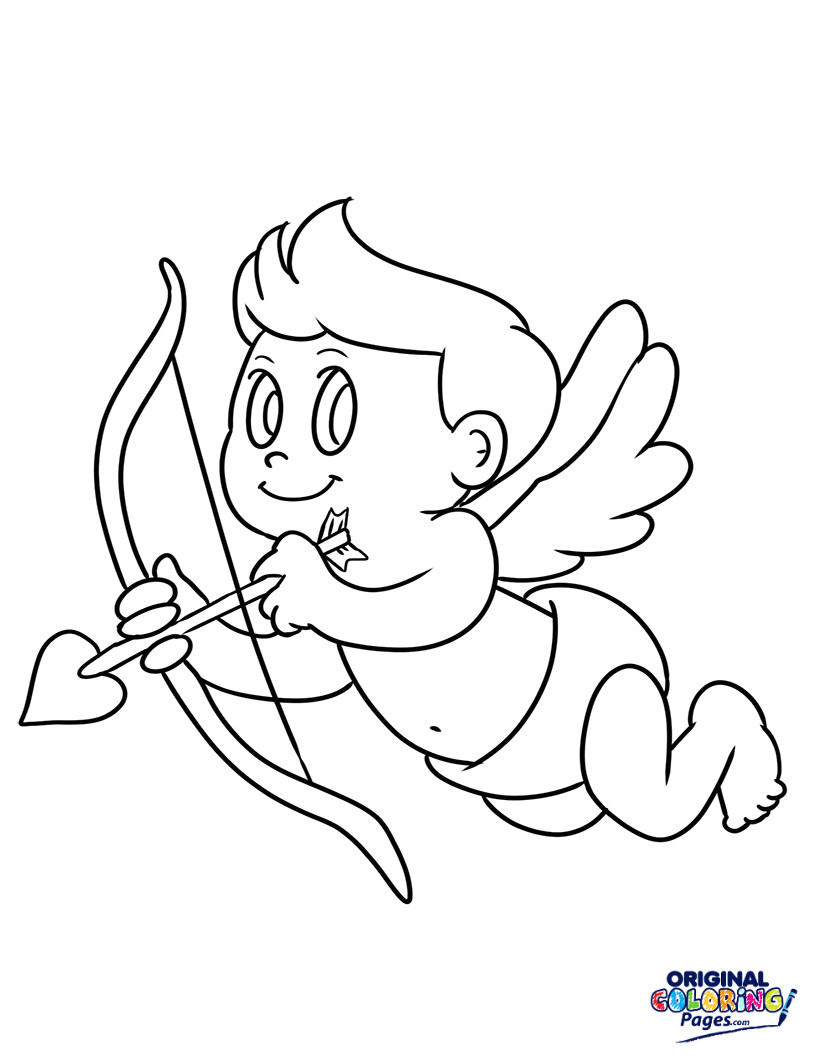 Cupid Printable Coloring Pages At Getdrawings Free Download