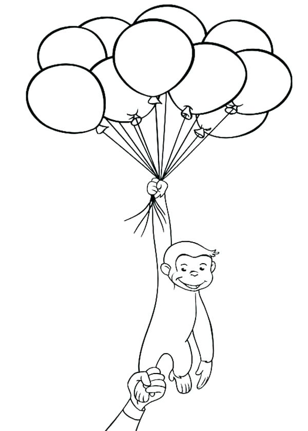 600x840 Curious George Coloring Pages Curious Coloring Pages Printable