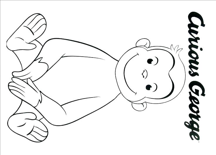 736x531 Curious George Coloring Pages Free Curious Coloring Pages Curious