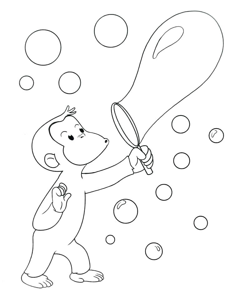 746x960 Curious George Coloring Pages Happy Birthday Curious Coloring