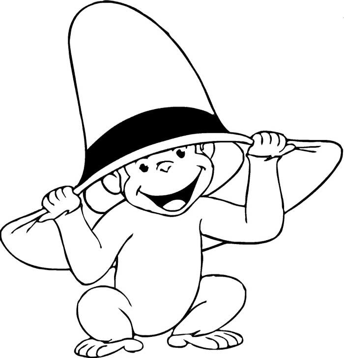 700x729 Curious George Coloring Pages Pictures To Color And Print