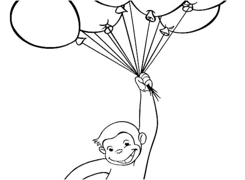 827x609 Curious George Coloring Pages Printable Wonderful Curious Color
