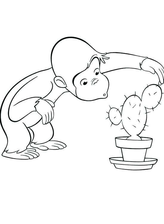 550x751 Curious George Coloring Sheets Curious Curious George Printable
