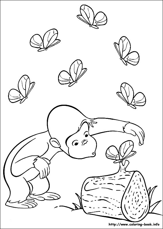 567x794 Curious George Coloring Picture