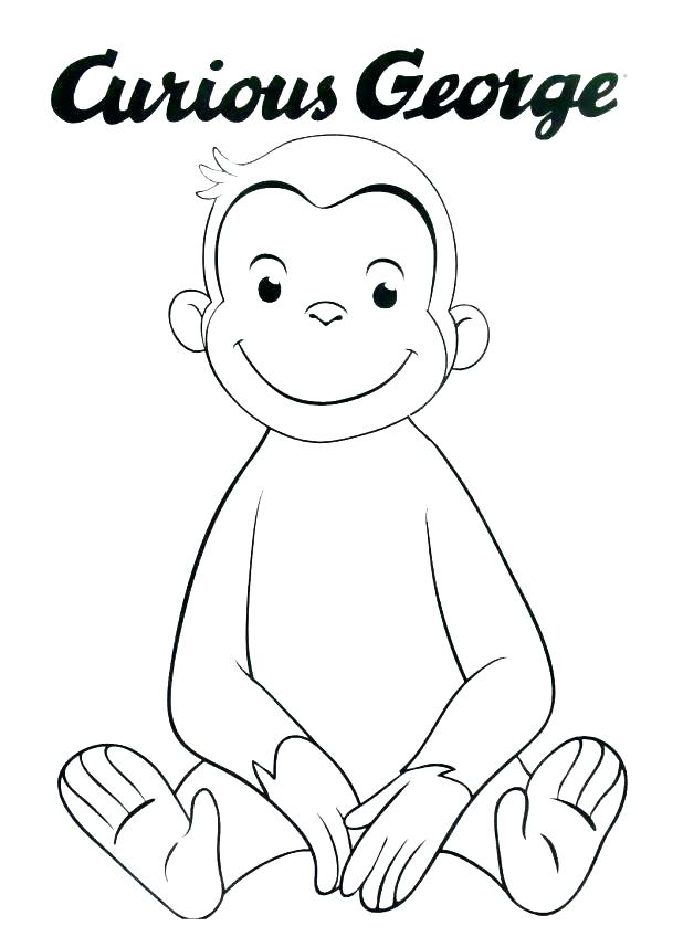 618x857 Curious George Coloring Book Or Free Curious Coloring Pages