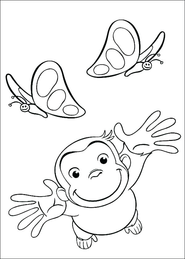 600x840 Curious George Coloring Page Curious Coloring Sheets Free Curious