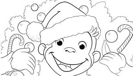 Curious George Christmas Coloring Pages At Getdrawings Com Free